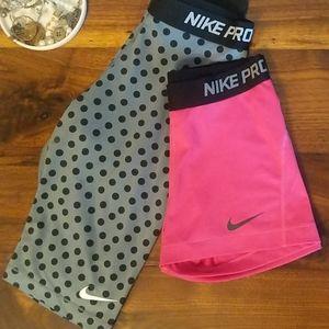 Niki Pro shorts and Capri set